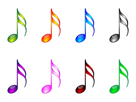 music theory: Shiny musical notes
