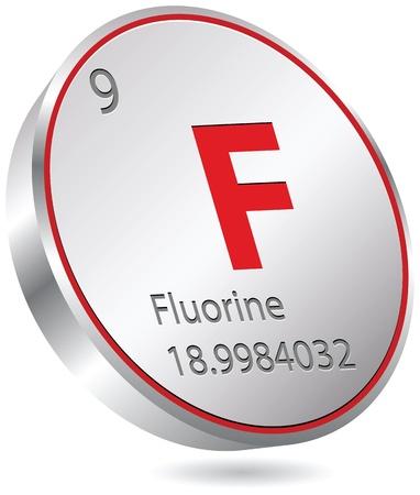 fluorine element Vector