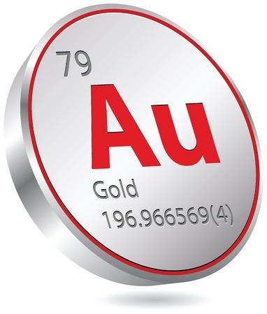 primordial: gold element Illustration