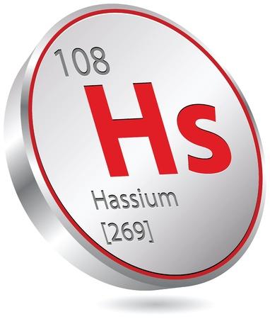 hassium element Stock Vector - 20428367
