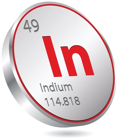 primordial: indium element Illustration