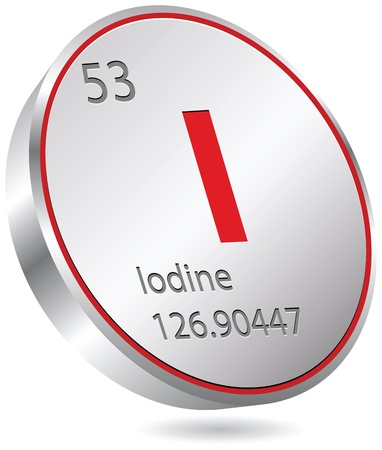iodine element Vector