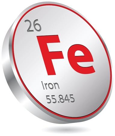 primordial: iron element Illustration