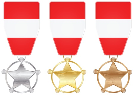 austrian: austrian medals Illustration