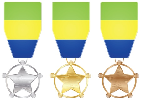 gabon: gabon medals Illustration