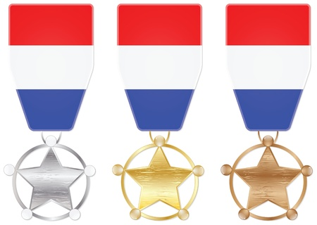 netherlands medals Vector