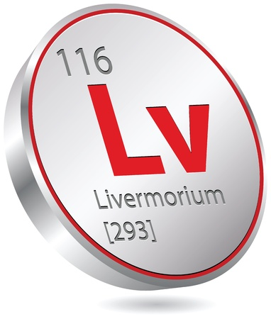 chimic element livermorium Ilustração