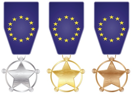 eu: EU medals Illustration