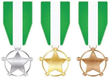 nigeria: nigeria medals Illustration
