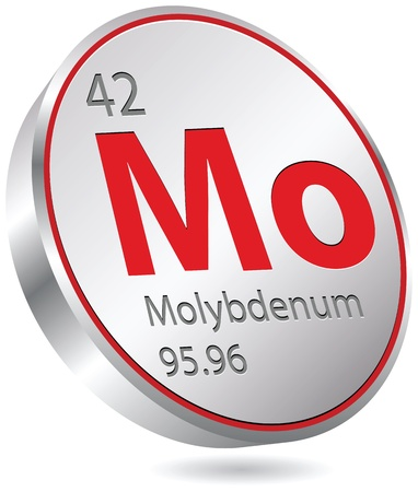molybdenum element Vector