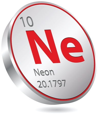 primordial: neon element Illustration