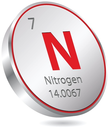 nitrogen element Stock Vector - 21014372