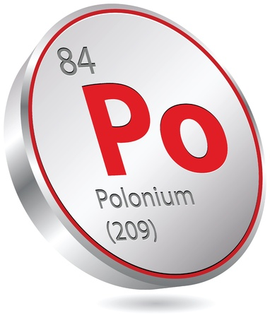 polonium: polonium element Illustration