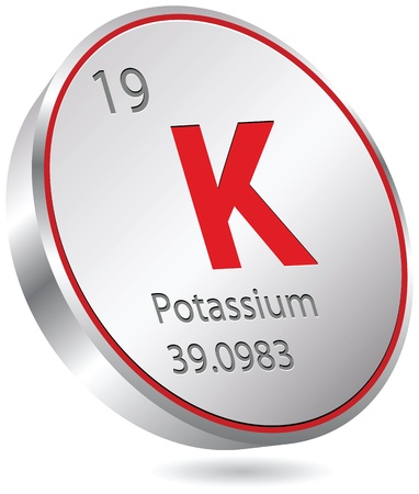 potassium element Vector