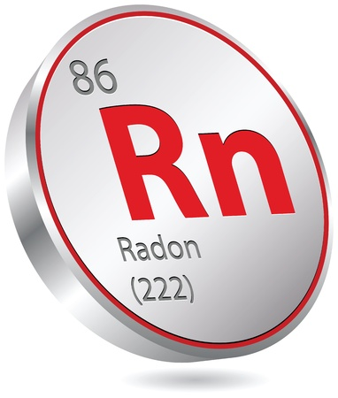 radon: radon element Illustration