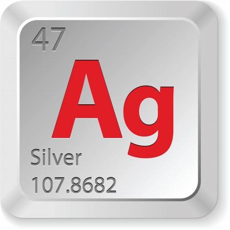 Silber Element Standard-Bild - 21156955