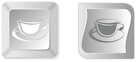 coffee cup button  Vector