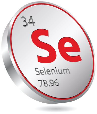 mendeleev: selenium element Illustration