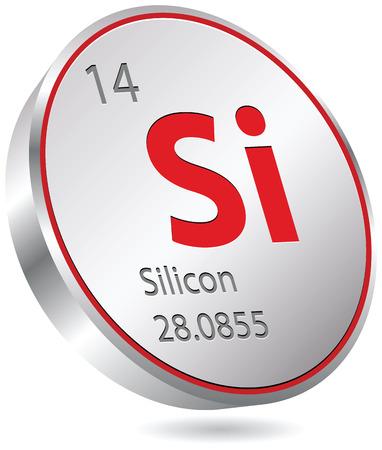 silicon button Ilustração
