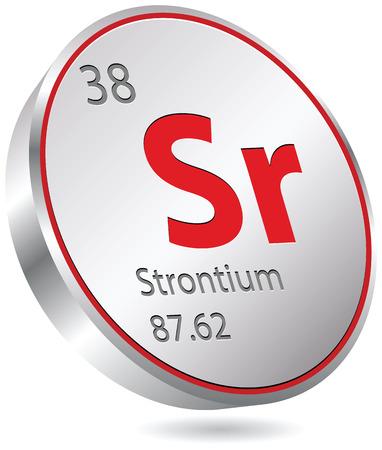 strontium element Ilustração