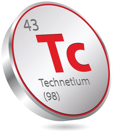 technetium element Ilustração