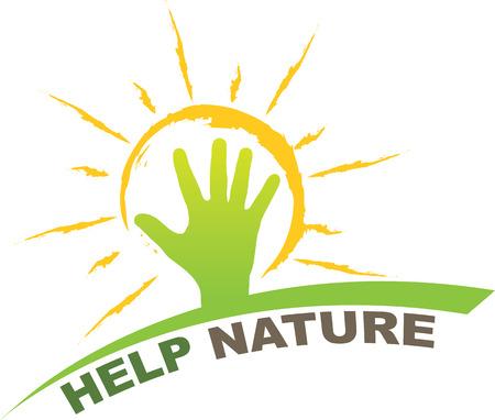 help nature design Ilustração