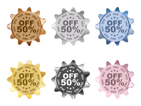 fifty percent discount labels