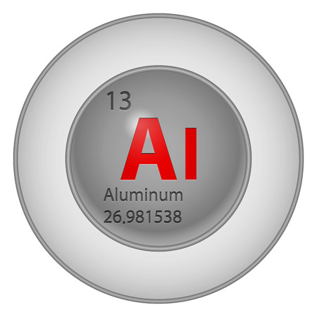 aluminum button