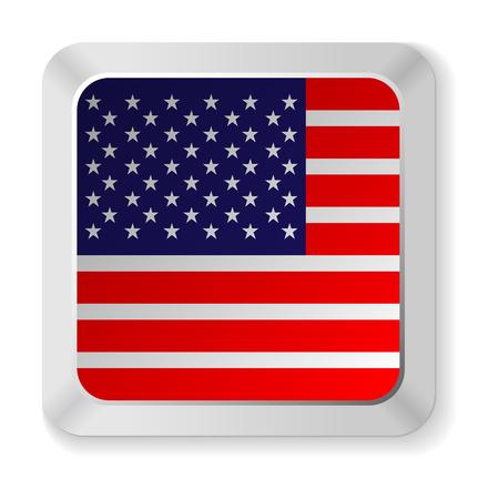 american flag button Ilustração