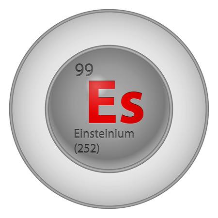 einsteinium element Ilustração