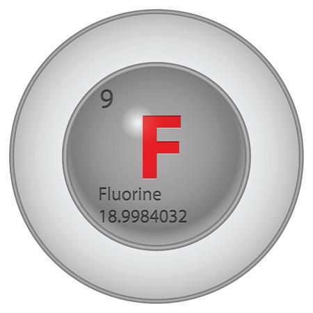 fluorine button Vector