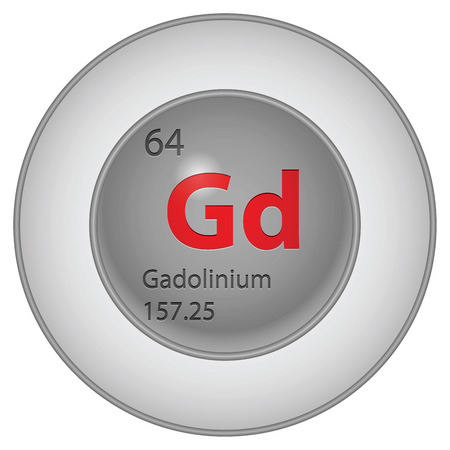 gadolinium element Stock Vector - 29126978