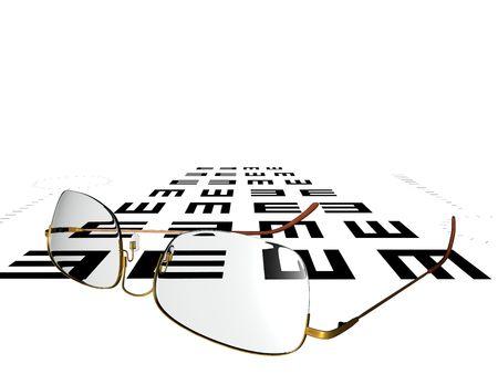 ocular diseases: Glasses Stock Photo