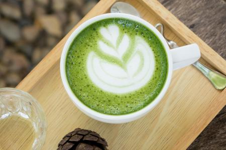 A Cup of Hot GreenTea Latte