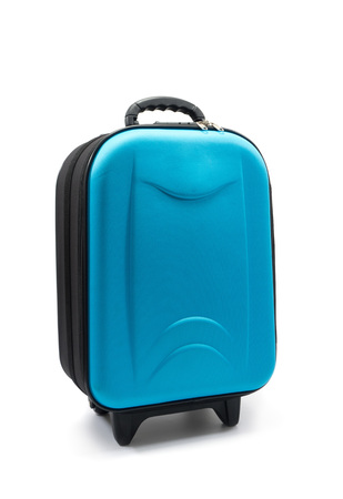 Luggage on White Background Stock Photo