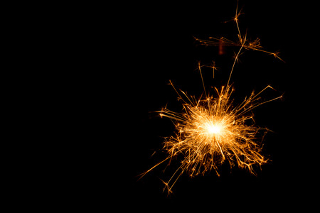 Abstract sparkler on black background