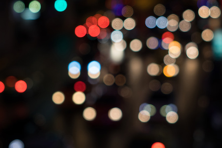 Abstract bokeh city light for background