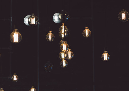 Retro luxury light lamp decor glowing