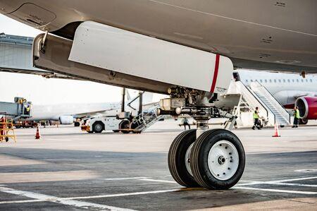 Close up view of landing gear Zdjęcie Seryjne