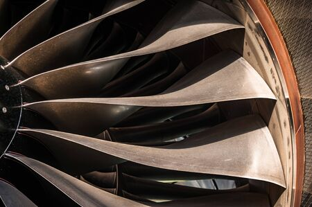 Close up turbo fan blades