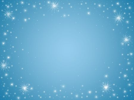 white stars over light blue background with feather center