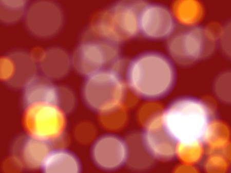 festiveness: pink and yellow lights over dark red background