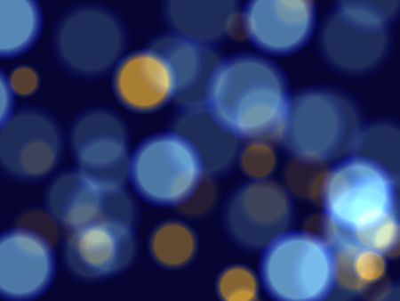 festiveness: blue and yellow lights over dark blue background