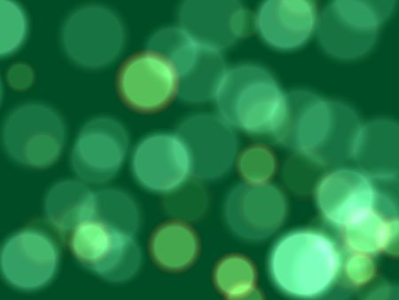 festiveness: white and green lights over dark green background