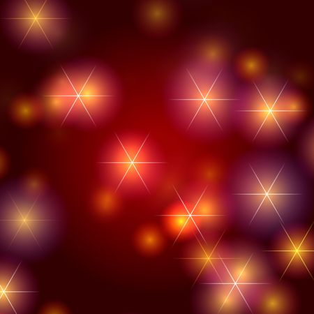 gleams: white stars over red background with lights and gleams
