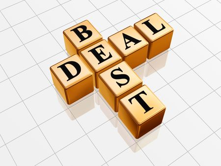 cost estimate: 3d golden cubes with black letters like crossword with text - best deal