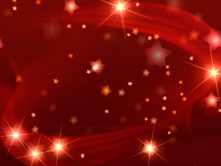 glint: red christmas background with stars and lights