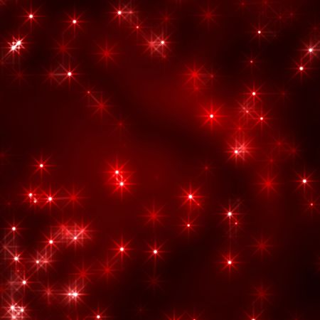 red christmas background with stars and lights Stock Photo - 5858281