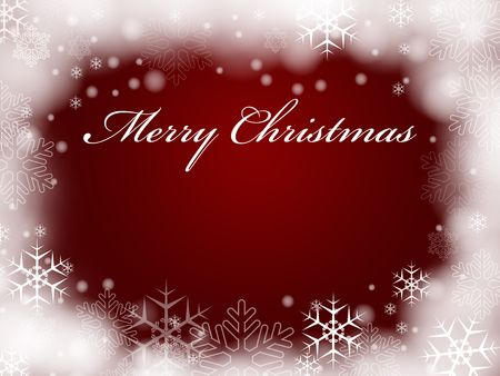red background with snowflakes and text - Merry Christmas Stock Photo - 5921864