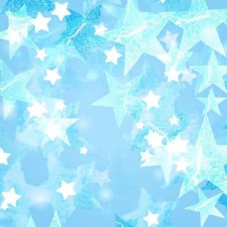 wintriness: blue and white stars over bluish background with feather center